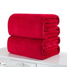 Super Soft Warm Solid Warm Micro Plush Fleece Blanket Throw Rug Sofa Bedding 1Pc