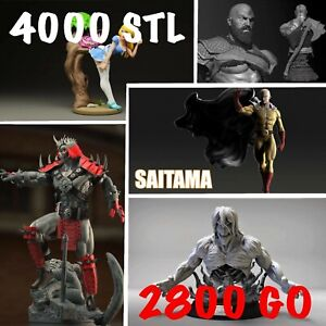 MEGA PACK - STL 3D print 3000GB STL FILES ready to print