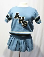 Vintage Sweater  Whiting Wool Cheerleader Pep Squad Sweater Mini Skirt Letter