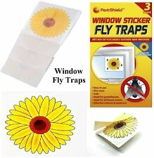 Fly Trap Insect Insects Killer Bugs Fly's Sunflower Window Sticker Glue New 3pk