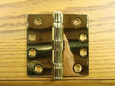 "Bright Brass 4"" x 4"" Commercial Ball Bearing Hinge"