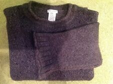DRIES VAN NOTEN-BELGIUM - RUSTIC HAND KNIT SWEATER BLU/GREY/BLK w/RUST TRIM XL