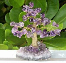Large Amethyst Crystal Gemstone Tree Bonsai With Purple Amethyst Druze Base