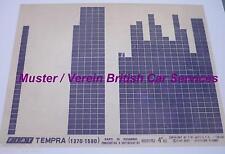 #F001 FIAT TEMPRA 1,4 1,6 ORIGINAL ERSATZTEIL KATALOG Mikrofilm Microfiche