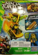 Mega Bloks TMNT Out of The Shadows Mikey Turbo Board Playset building blocks NEW