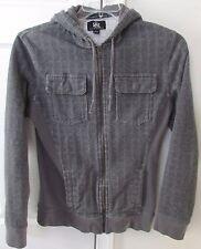 Rock & Republic Gray Full ZIp Hoodie Sweatshirt Adult Small EUC