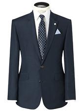 John's Lewis Men's Blue Tailored Linen Shadow Check Jacket RRP £140 44R BNWT