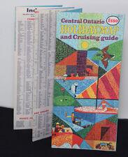 VTG 1960s Gulf Gas Oil Advertising Holiday Map Cruising Guide Ontario Canada