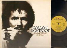 GORDON LIGHTFOOT Summertime Dream LP UK 1976  Reprise LYRICS Sleeve