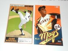 WILLIE MAYS & MARIHAL Posters SF Giants 2018 Authentic Fan Cheer Cards SGA PHOTO
