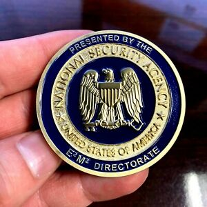 Unreal Rare NSA National Security Agency E2M2 Director Challenge Coin RARE Mint