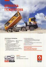 2018 Mj Renault Trucks K 8x4 W1U Broschüre brochure catalogue Lkw camion