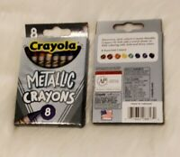 2 pack New Crayola METALLIC 8 Crayons/Pack. 16 total crayons!