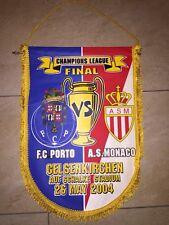 Wimpel Vintage pennant Banderin FC Porto - AS Monaco
