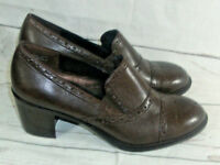 Rockport Brown Genuine Leather Brogue Style Shoes US 8.5W UK 6 EU 39.5