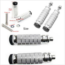 One Pair Universal CNC Motorcycle Footrests Foot Peg Foot Rest Pegs Pedal Silver