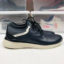 COLE HAAN MENS GRANDSPORT Smooth Leather Shoes Sneakers - Navy Blue - Size 8.5