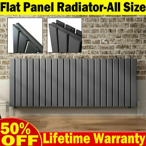 Central Heating Radiator Horizontal Flat Panel Rads Anthracite Warmer Heater UK