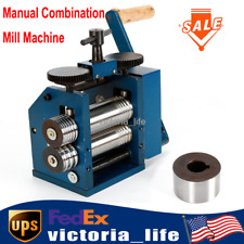 Manual Combination Rolling Mill Machine Jewelry Press Tool 3