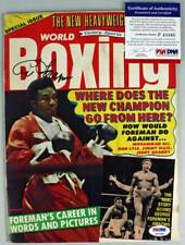 George Foreman Authentic Signed 1973 World Boxing Magazine PSA/DNA #P43360