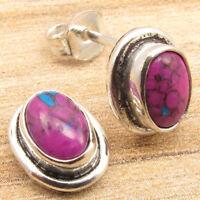925 Silver Plated Lightweight Tibetan Earrings ! Many Gemstone Choice