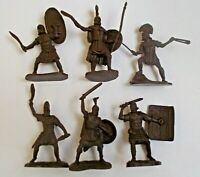 "Lot of 6 pcs Roman Warriors Soft Resin Toy Soldier 65 mm / 2,5"" 1/30 Scale NEW"