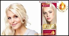 PLATINUM BLOND HAIR Blonde Colour Colorant COLOR CREAM DYE with MACADAMIA OIL