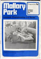 MALLORY PARK 25th Jul 1971 Lombank Championship Motor Racing Official Programme
