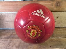 Adidas Soccer Ball Manchester United Edition Red White Stripes Size 5