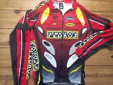 Verge Team Pedros Cycling Mtb Jersey Yellow full Zip long Sleeve small