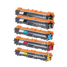 5 Pack TN221 TN225 Toner Cartridge for Brother HL-3140CW MFC-9330CDW MFC-9340CDW