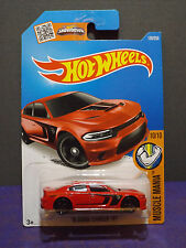 Hot Wheels '15 DODGE CHARGER SRT in RED - 2016 HW Muscle Mania car. 10/10.
