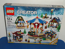 NEW LEGO Creator Winter Village Market 10235 Retired Christmas FREE SHIPPING