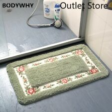 Pastoral Style Bath Carpet Rectangle Mat Anti-slip  Shower Room Rugs Carpets
