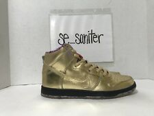 9cacf7de5d6e Nike SB X Humidity Dunk High QS Trumpet Mens Av4168-776 Gold Shoes Size 8.5