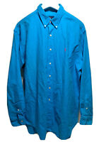 Ralph Lauren Classic Fit Men's Plaid Long Sleeve Button Down Dress Shirt Size XL