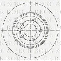 BORG & BECK REAR BRAKE DISCS PAIR FITS MG FITS MG 6 HATCHBACK DIESEL 110KW