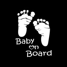 """Baby on Board""White Vehicle Auto Stickers Car Graphics Window Decal Decor Vinyl"