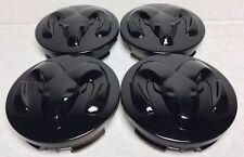 4 Pcs, Ram Head, Wheel Center cap, Hubcap, 63 MM, Black, Durango Dakota Ram