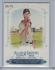 MADISON BUMGARNER 2012 Topps Allen and Ginter Rip Card (Ripped)  #69/75 (C6248)
