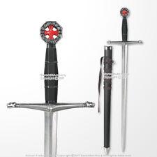 Medieval Crusader Historic Dagger Short Knights of Templar Sword With Scabbard