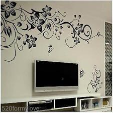 Home Room DIY Butterfly Flower Rattan Vinyl Art Wall Sticker Fridge Decal Mural