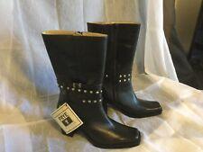 Frye Black Studded Boots Size 10B NWT-No Box