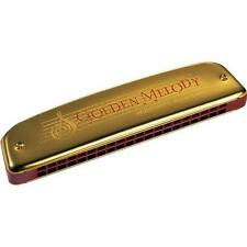 HOHNER Armonica GOLDEN MELODY Tremolo DO 2416/40 Con Custodia In Ecopelle Nuovo