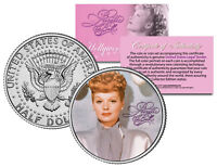 "Lucille Ball ""I Love Lucy Color Portrait"" Kennedy Half Dollar US Coin *Licensed*"