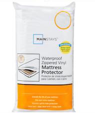 Mainstays Size Full Waterproof Zippered Mattress Protector White