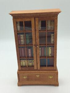 Dolls House Bookcase With Glazed Doors
