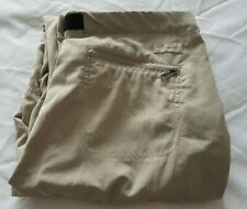 Columbia GRT Ladies Hiking Pants Trousers Size 10 L31 Leg 31in Khaki Belted