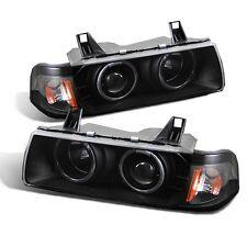 CG BMW 3 Series E36 92-98 4 Dr 1 Pc Projector Headlight G2 Halo Black Clear