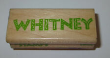 """Whitney Rubber Stamp Name Stamps Wood Mounted Stampede 2.25"""" Long"""